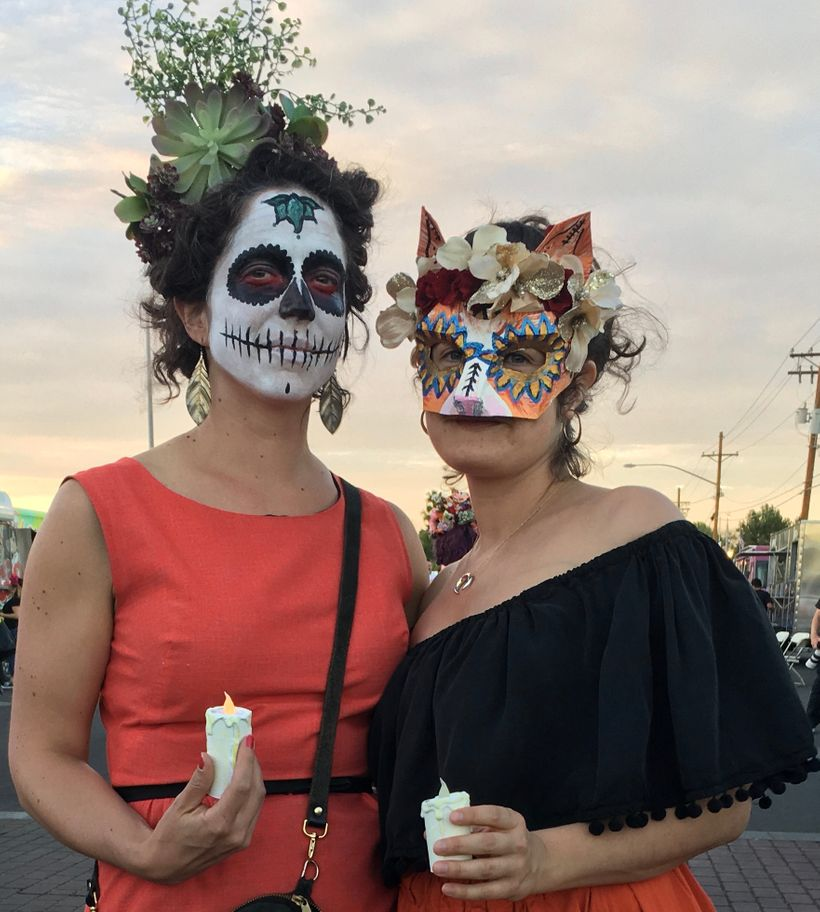 Friends in the All Souls Procession