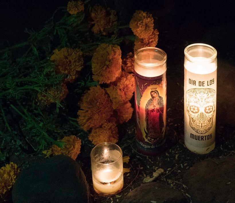 Dia de los Muertos Candles at Tucson's El Tiradito shrine