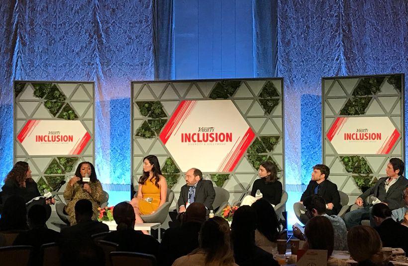 Variety Inclusion Summit panel: Malina Saval, Yvette Nicole Brown, Cindy Chu, Danny Woodburn, Rowan Blanchard, Nic Novicki, L