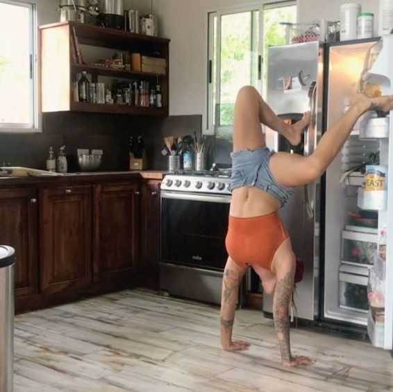 Yoga Instructor's Unusual Method For Getting Food Out Of The Fridge Is Something