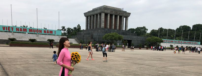 "Ho Chi Minh Mausoleum, Hanoi (2017)    ""Ho is away in Moscow"""