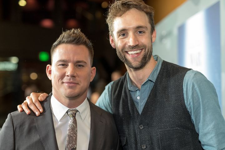 """Channing Tatum and Reid Carolin attend the premiere Of """"War Dog: A Soldier's Best Friend"""" at Directors Guild Of America on No"""