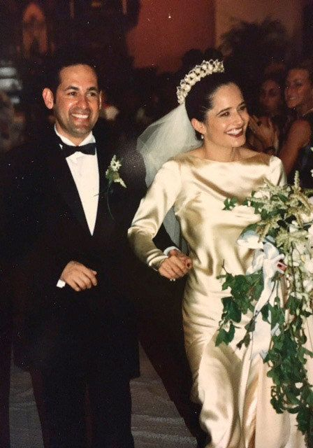 Elena Salinas and Ric Salinas on their wedding day in