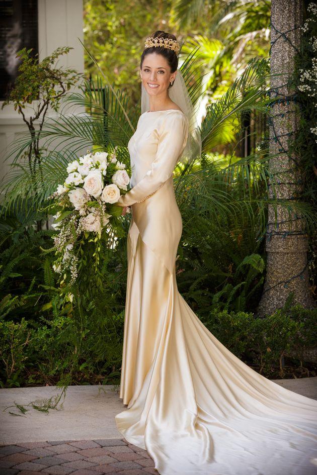 Pilar O'Hara Kassouf, Marta's daughter, wore her great-grandma's wedding dress when she got married...