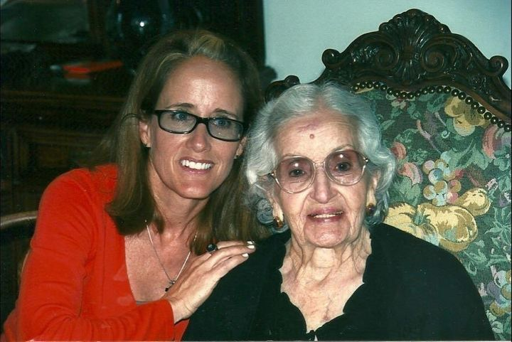 Marta Prietto O'Hara and her grandmother Grande. Grande died in 2009 at the age of 98.