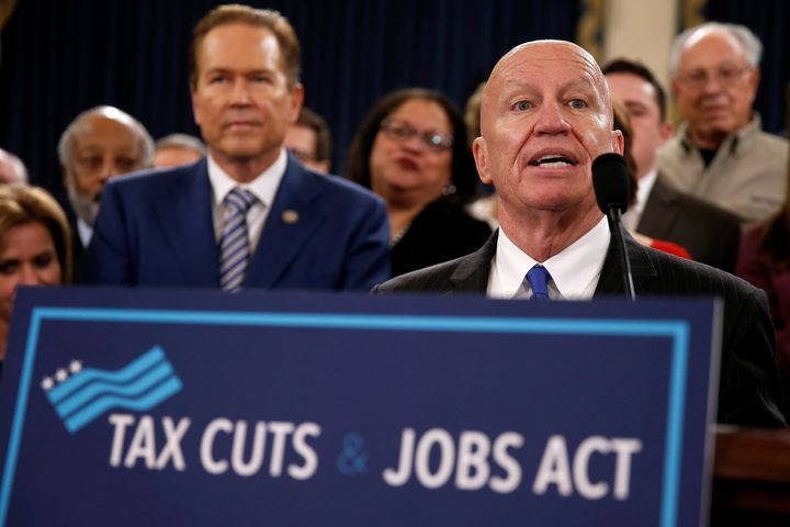 Rep. Kevin Brady (R-Texas) unveils legislation to overhaul the tax code on Capitol Hill, Nov. 2, 2017.