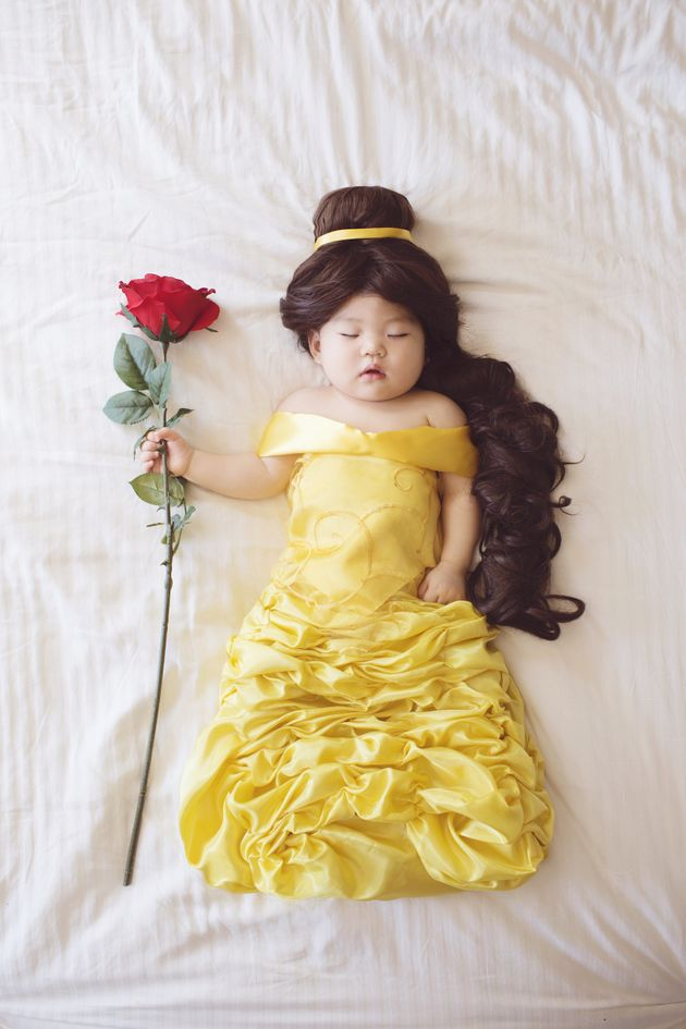 """Izumikawa's personal favorite is Joey as Belle from """"Beauty and the"""