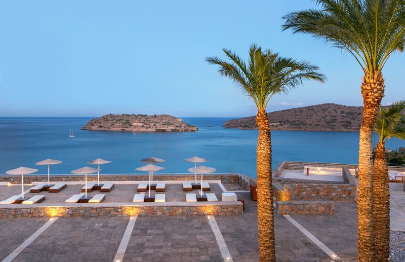 <strong>View Of Spinalonga From Blue Palace, Crete</strong>