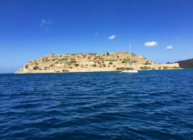 <strong>View Of Spinalonga From The Boat</strong>