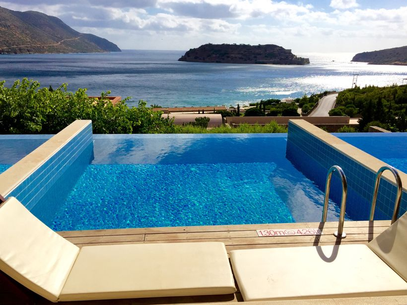 <strong>Dreamy Views Of Spinalonga From The Deck Of My Suite At Blue Palace, Crete</strong>