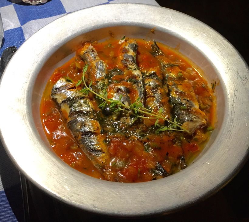 <strong>Luscious Sardines At Blue Door Taverna/Blue Palace</strong>