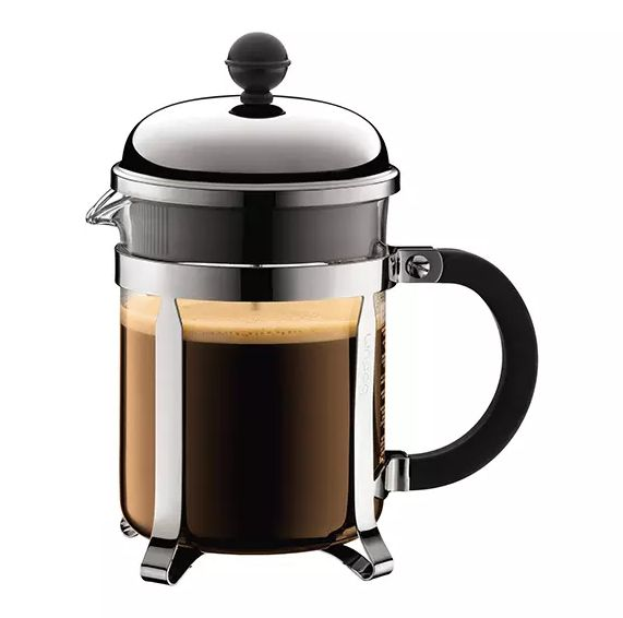 "Impress your guests with this beautifully made <a href=""https://bluebottlecoffee.com/store/bodum-chambord-17oz-french-press"""