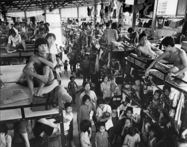A Vietnamese Refugee camp