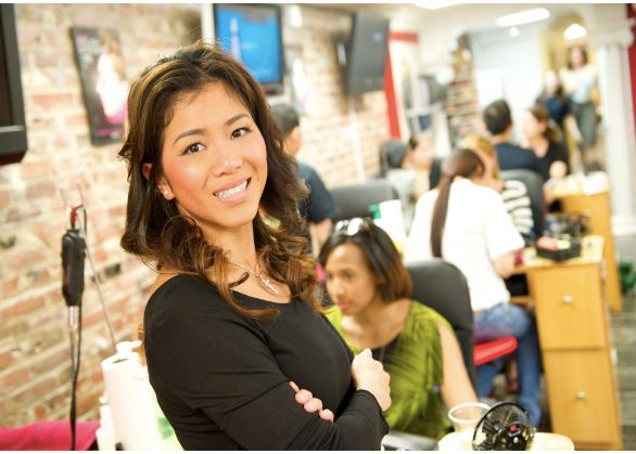 """Kathy Luu and her nail salon, SpaLogic <a rel=""""nofollow"""" href=""""http://www.spalogicdc.com/"""" target=""""_blank"""">Source</a>"""