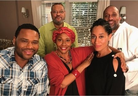 """""""black-ish"""" - With Anthony Anderson, Laurence Fishburne, Tracee Ellis Ross, and show creator, Kenya Barris"""