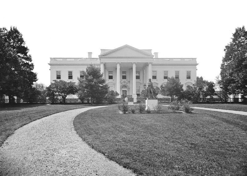 The White House, circa 1860, the year Abraham Lincoln was elected President