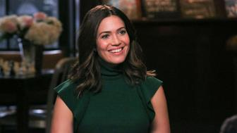 SUNDAY TODAY WITH WILLIE GEIST-- Pictured: Mandy Moore during an interview with host Willie Geist on October 10, 2017 -- (Photo by: Mike Smith/NBC/NBCU Photo Bank via Getty Images)