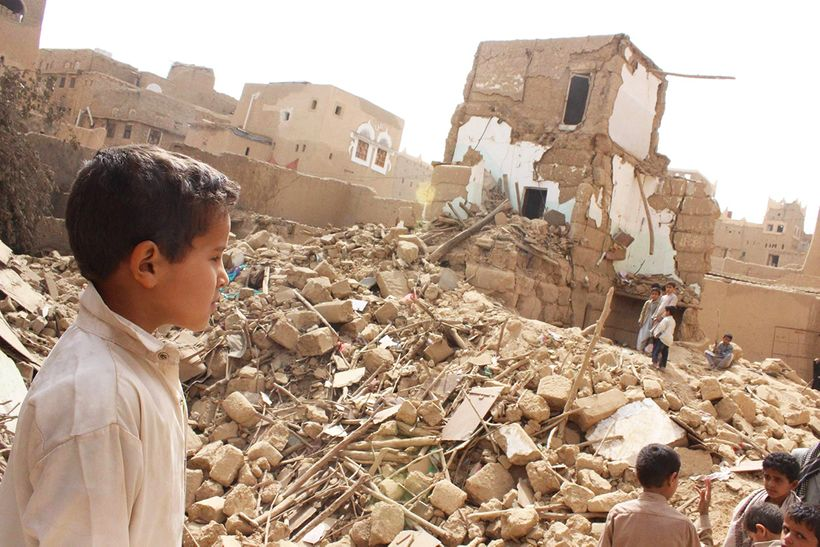 Children suffer in Yemen's civil war.