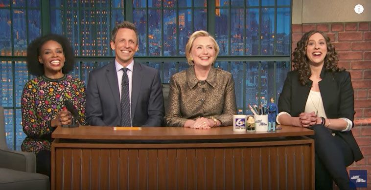 Hillary Clinton, Seth Meyers Mock Fox News' Obsessive Coverage