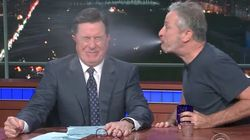 Stephen Colbert And Jon Stewart Swap Some Spit For A Good