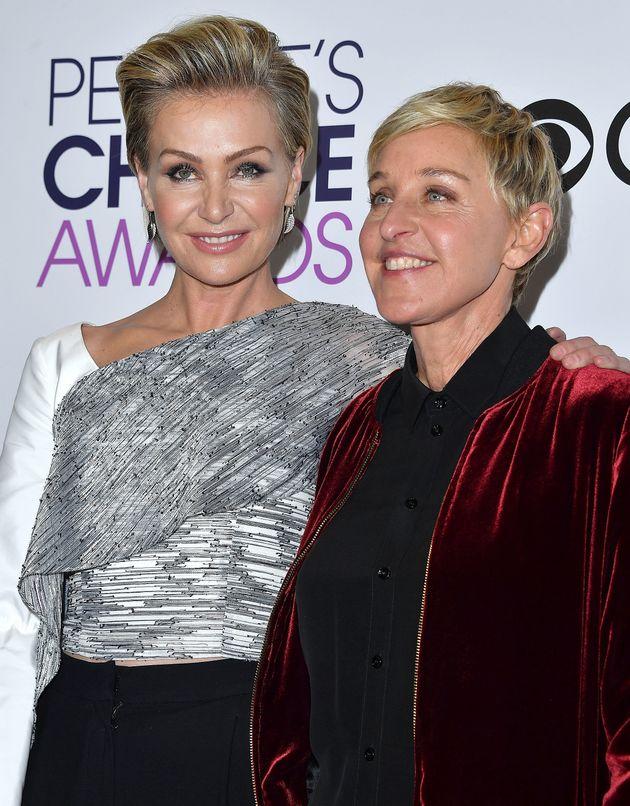 Ellen DeGeneres and Portia de