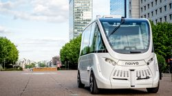 A Self-Driving Bus Was Involved In A Car Accident On Its First