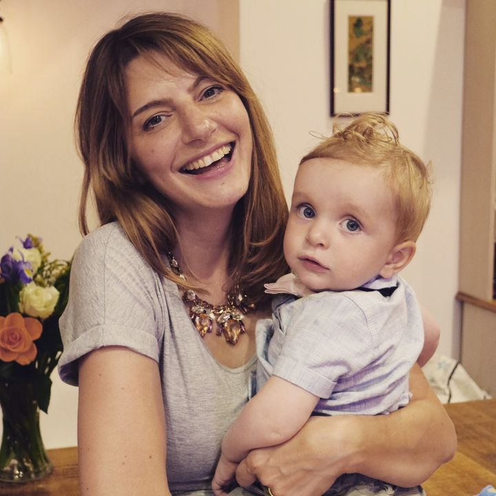 Louise Goulden, founder of the Together Project, and her son Heath.