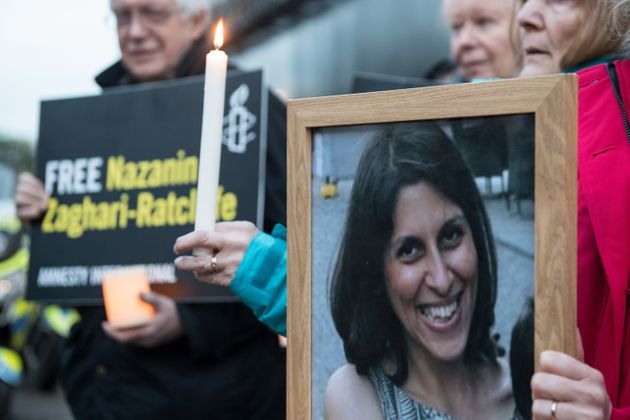 A vigil for Nazanin