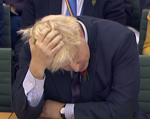 Boris Johnson giving evidence to the Foreign Affairs Committee last