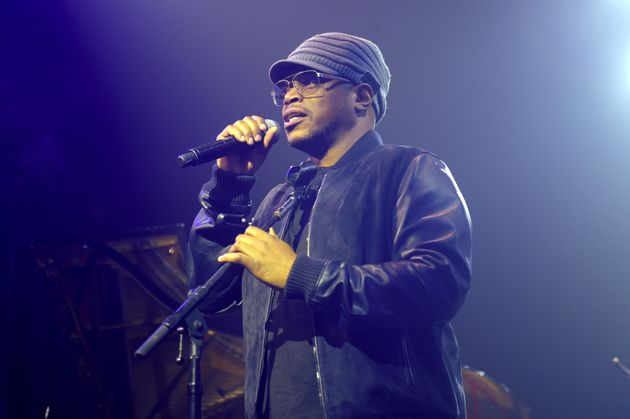 Sway Calloway speaks onstage at VH1 Save The Music 20th Anniversary Gala in New York