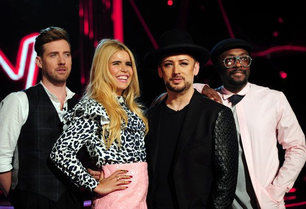 Paloma with her former The Voice co-stars in