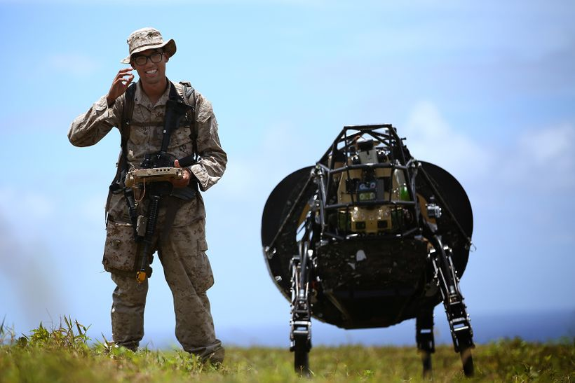 The Marines experiment with robotics in the field. More than 80 percent of the adult-aged American workforce may be permanent