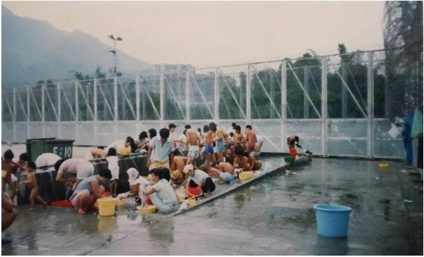 The refugee camp in Hong Kong
