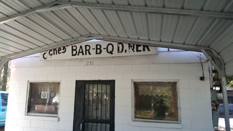 Jones BBQ DIner in Marianna, AK.  Home of an amazing BBQ sandwich, cold drinks, and a big smile