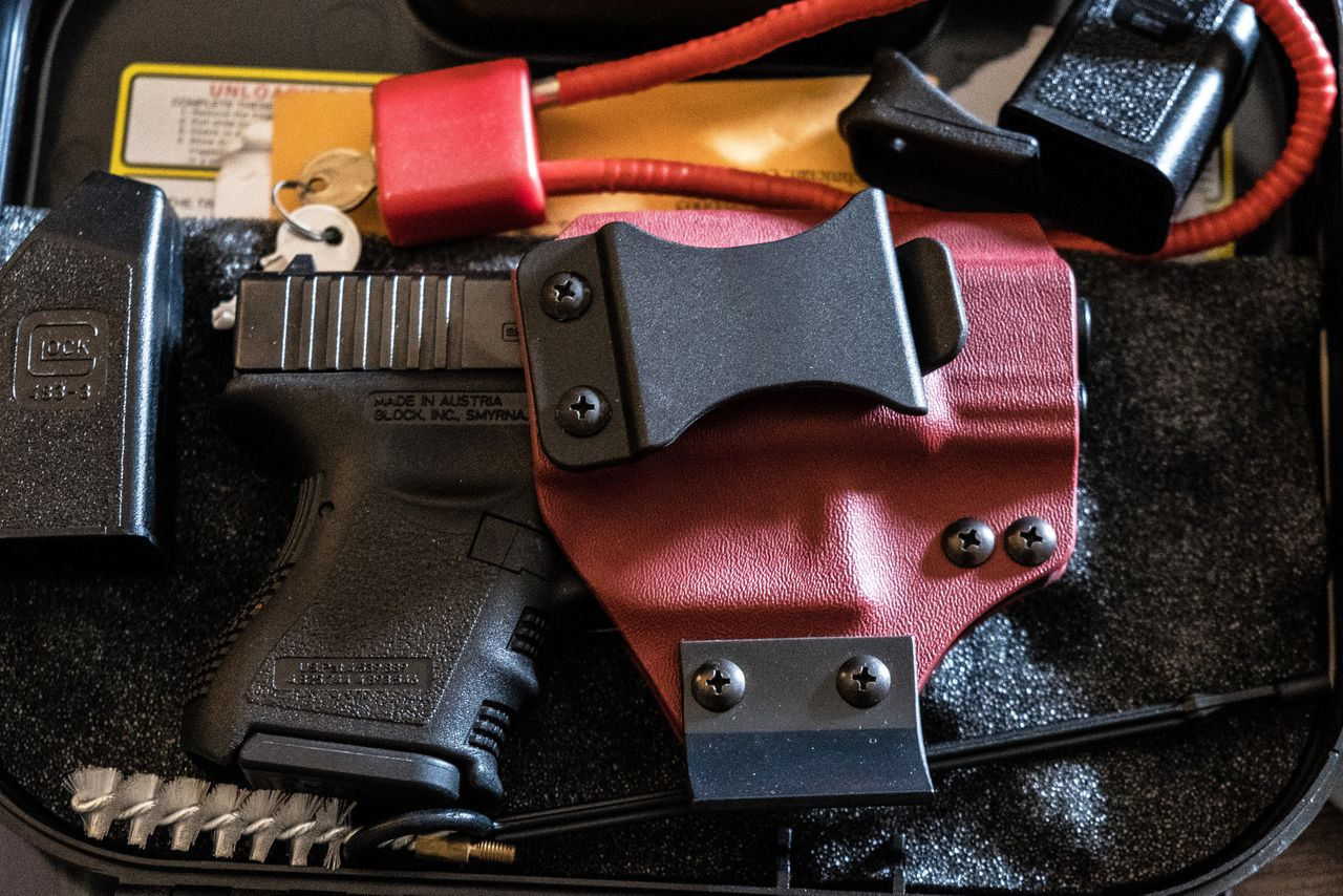 """""""I believe in the right to carry a gun, so I own them, and they stay locked up. The ammunition stays in one room, and the firearm stays in the other,"""" said RJ."""
