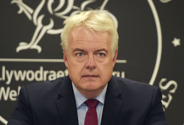 Welsh First Minister Carwyn Jones speaks to the