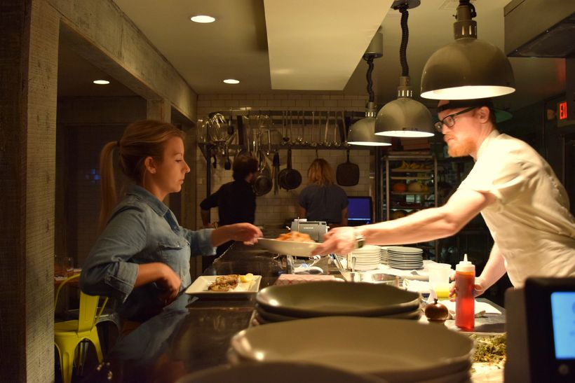 Chef Josh T. hunt oversees the kitchen at Hog &  Hominy in Memphis, TN