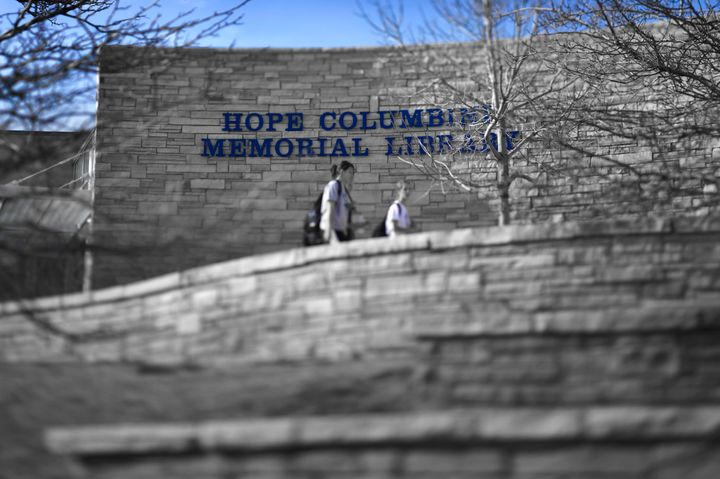 The Hope Columbine Memorial Library at Columbine High School, Littleton, CO was built following the shootings on April 20, 19