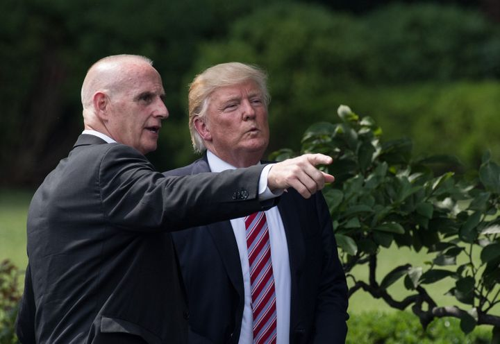 Trump and Schiller in June 2017.