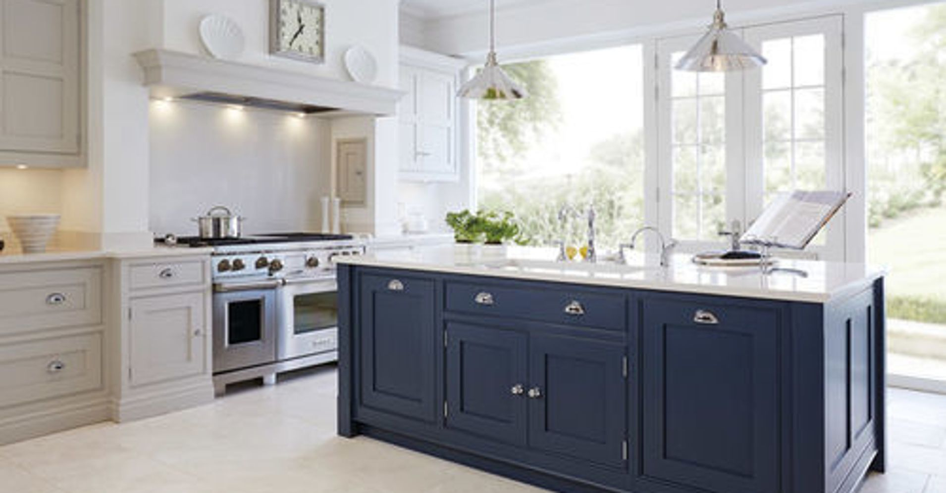 Trend Alert: Sophisticated Shades of Blue for Kitchen Cabinets ...