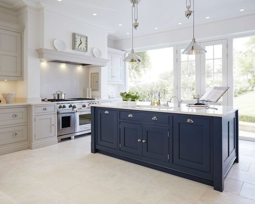 Trend Alert Sophisticated Shades Of Blue For Kitchen Cabinets Huffpost