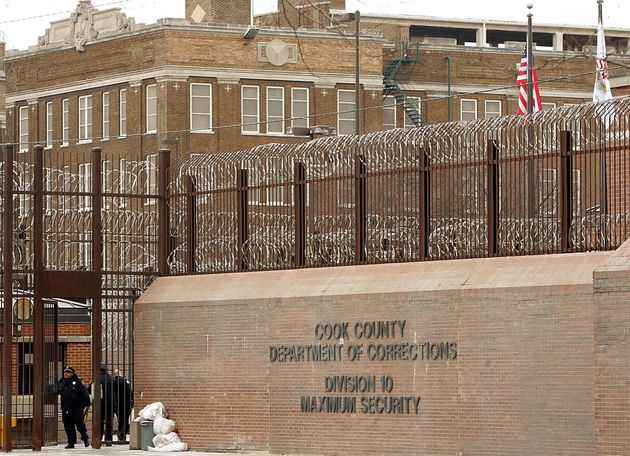 Cook County correctional officers enter the maximum security part of the jail in Chicago on Feb. 12,