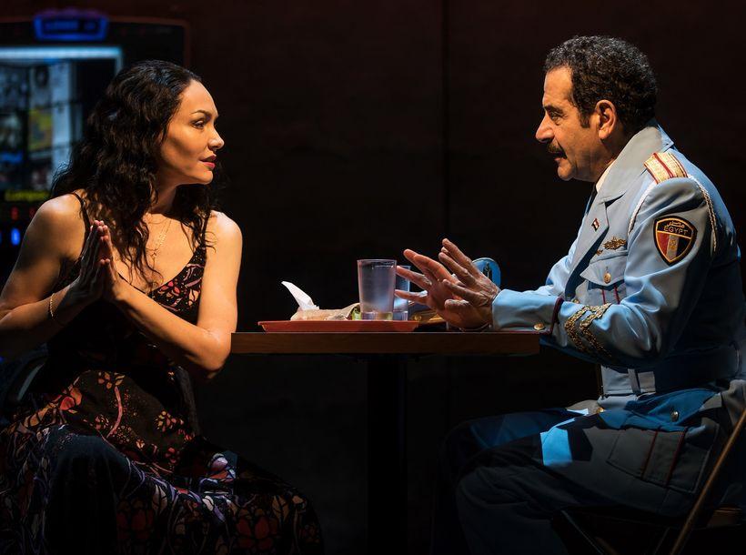 Katrina Lenk and Tony Shalhoub in <em>The Band's Visit</em>