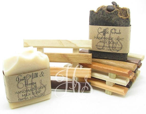 "These <a href=""https://www.etsy.com/listing/529356314/handmade-goat-milk-soap-and-handcrafted?ref=related-4"" target=""_blank"">"