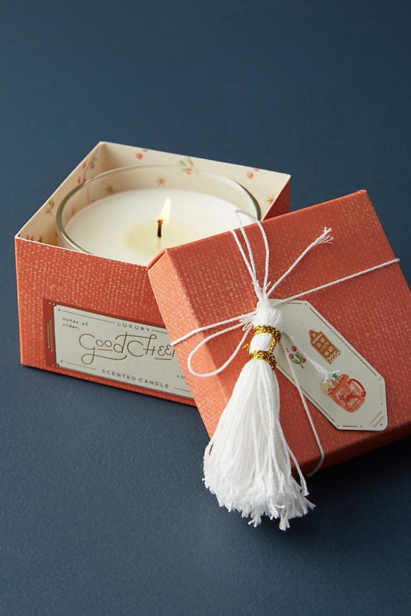 "You can't go wrong with a <a href=""https://www.anthropologie.com/shop/mini-boxed-holiday-candle?category=home-candles&col"