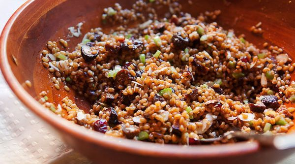 "<strong>Get the <a href=""https://www.macheesmo.com/wheat-berry-fig-salad/"" target=""_blank"">Wheat Berry and Fig Salad rec"