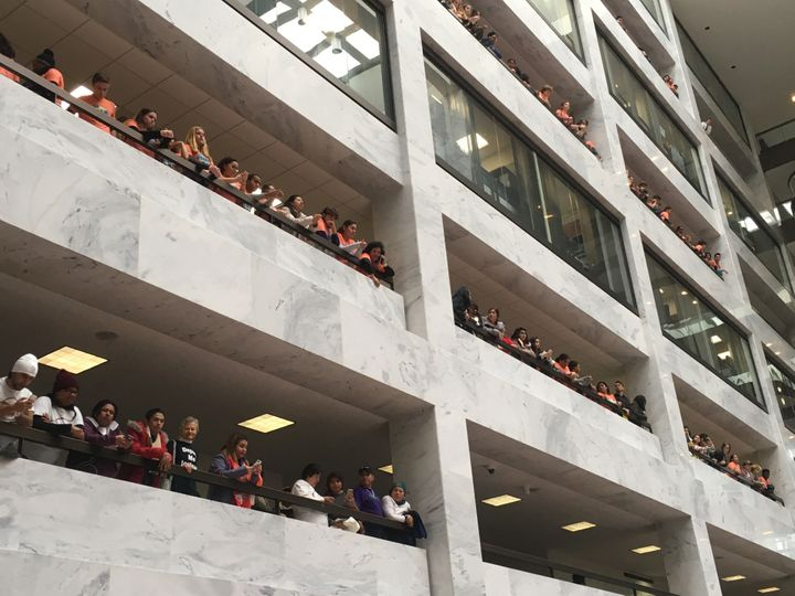 From floor to ceiling, DREAMers and supporters filled the Hart Senate Office Building on Thursday, November 9, 2017.
