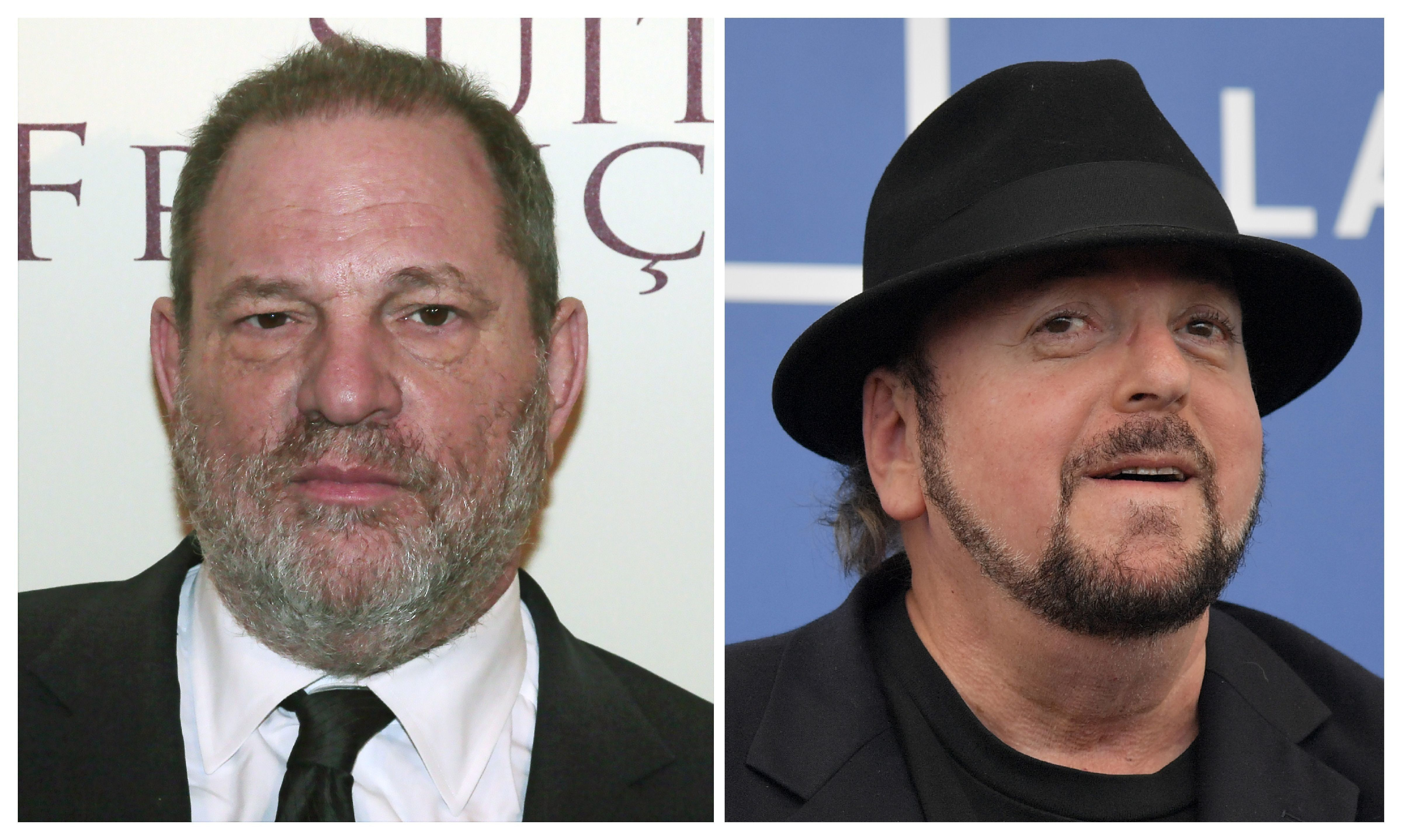 (FILES): These two file photos show producer Harvey Weinstein (L) before the world preview screening of 'French suite' (Suite francaise) on March 10, 2015 in Paris, France; and director James Toback (R) attending the photocall for the movie 'The Private Life of a Modern Woman' during the 74th Venice Film Festival on September 3, 2017 at Venice Lido in Italy.   The Beverly Hills Police Department said Tuesday, october 31, 2017 it is investigating 'multiple complaints' of assaults by disgraced producer Harvey Weinstein and director James Toback, who face numerous allegations of unwanted sexual encounters. Accounts of abuse by Weinstein that were published last month in The New York Times and The New Yorker encouraged others to speak out, unleashing a cascade of allegations of sexual harassment and assault against leading figures in Hollywood and elsewhere. The police department did not provide details about the complaints in a statement titled 'Recently Reported Assaults,' and said that no additional information would be released at this time.  / AFP PHOTO / dsk        (Photo credit should read DSK/AFP/Getty Images)