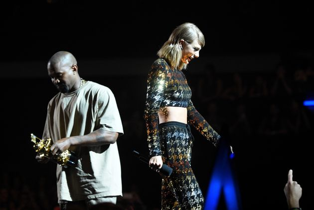 Taylor Swift and Kanye West at the 2015 MTV Video Music