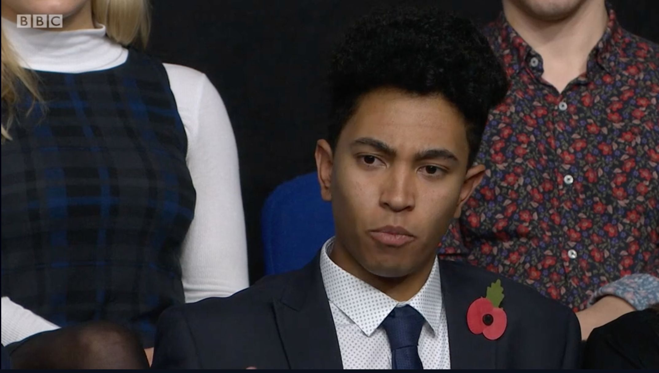 Question Time Teen Applauded For Poignant Question About Westminster